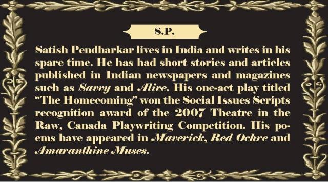 Satish Pendharkar  Scarlet Literary Magazine